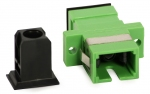 Adaptateur fibre monomode SC/APC vers SC/APC simplex