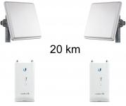 Kit Pont Réseau Haut débit 5 GHz Longue portée jusqu'à 20 km (v3)