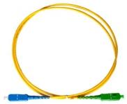 Cordon fibre monomode SC/APC 1m SC/UPC simplex