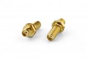 Adaptateur SMA-Femelle vers SMA-Femelle pour châssis (Gold)