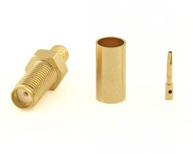 Connecteur à sertir SMA-Femelle pour RG-58/CNT-195