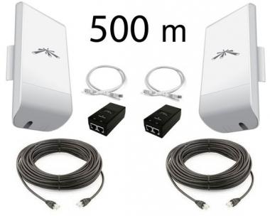 Kit Pont Réseau BASIC Ubiquiti 2.4 GHz jusqu'à 500 mètres (V2)