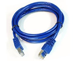 Cordon réseau Cat. 5e UTP bleu (10 mètres)