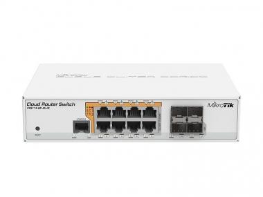 Switch réseau PoE 8 ports 10/100/1000 + 4 ports SFP+ MikroTik CRS112-8P-4S-IN