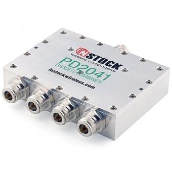 Splitter/Combiner 4 voies 0.7-2.7 GHz N-Femelle InStock PD2041