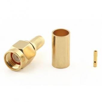 Connecteur à sertir RP-SMA-Plug pour RG-58/CNT-195