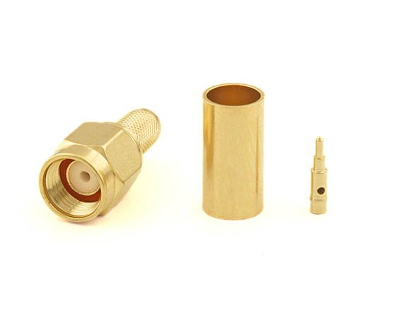 Connecteur à sertir SMA-Mâle pour RG-58/CNT-195