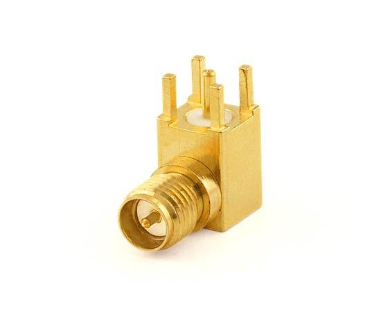 Connecteur angle droit RP-SMA-Jack PCB
