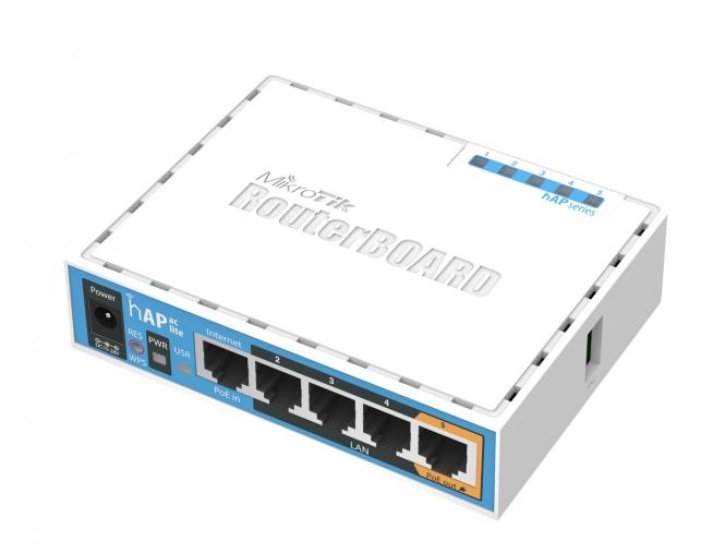 Routeur/Point d'accès bibande 2.4/5 GHz MikroTik hAP ac Lite RB952Ui-5ac2nD
