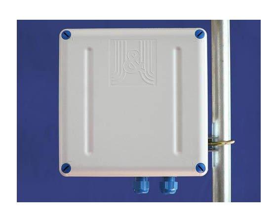 Boîte étanche avec fixation mât 203x203x65mm GentleBOX JE-200