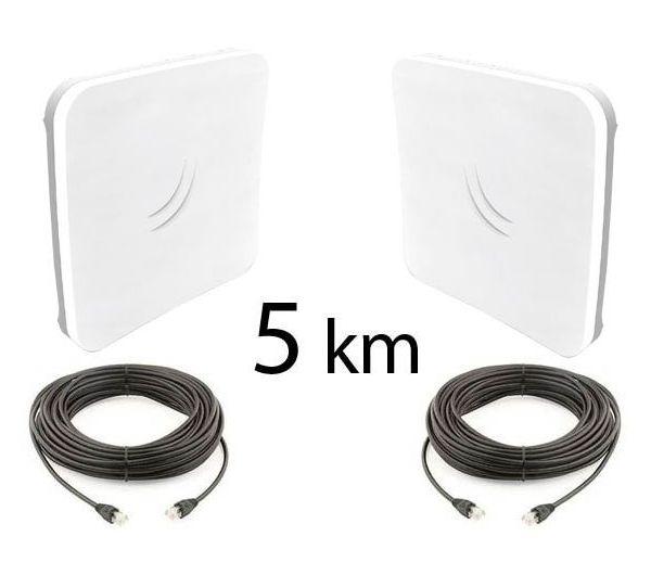 Kit Pont Réseau Très Haut débit 5 GHz Longue portée jusqu'à 5 km 802.11ac