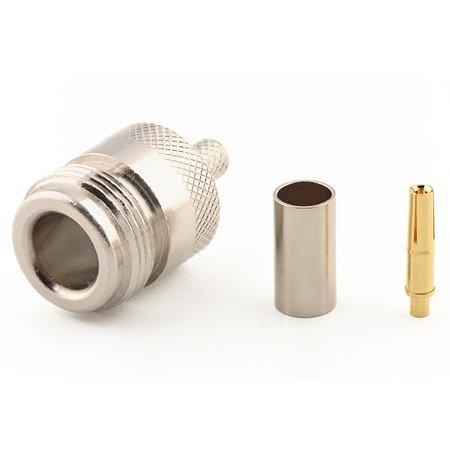 Connecteur à sertir N-Femelle pour RG-58/CNT-195 Telegärtner J01021H0096
