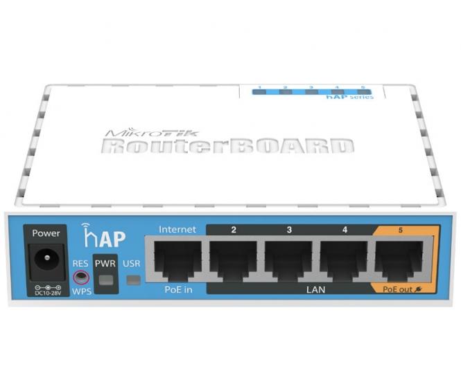Routeur/Point d'accès 2.4 GHz MikroTik hAP RB951Ui-2nD