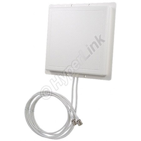Double Antenne Panneau 2.4 GHz 11 dBi L-Com RE11DS (RP-TNC)