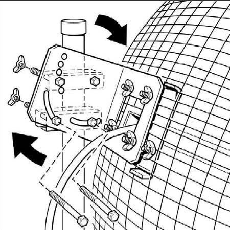 Fixation orientable pour antenne SD21, SD24 et SD27 Doradus HTB