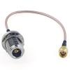 Pigtail RP-SMA-Plug vers N-Femelle châssis 20cm Ø 2.6mm