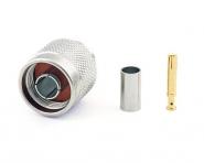 Connecteur à sertir RP-N-Plug pour RG-58/CNT-195