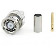 Connecteur à sertir RP-BNC-Plug pour RG-58/CNT-195