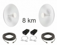 Kit Pont Réseau Haut débit 5 GHz longue portée jusqu'à 8 km