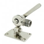 Fixation Inox pour antenne type Omni Marine Poynting (ajustable sur plan horizontal ou incliné)