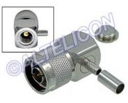 Connecteur à sertir N-Mâle coudé pour RG-58/CNT-195
