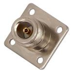 Connecteur N-Femelle carré à souder pour châssis Telegärtner J01021H1082