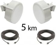 Kit Pont Réseau Haut débit 5 GHz Longue portée jusqu'à 5 km (v2)