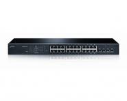 Switch réseau PoE 10/100/1000 24+4 ports LANCOM GS-1224P