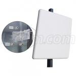 Antenne Panneau 2.4/5.1-5.8 GHz 14 dBi triple pol L-Com HG2458-14DP-3NF