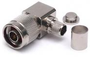 Connecteur à sertir N-Mâle coudé pour CNT-400/LMR-400