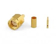 Connecteur à sertir SMA-Mâle doré pour RG-174/RG-316 Telegärtner J01150A0011