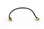 Cordon pour clé USB/routeur Huawei CRC9-Coudé vers SMA-Femelle 20cm Ø 2.6mm