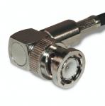 Connecteur à sertir BNC-Mâle (plug) coudé pour RG-58/CNT-195 Amphenol 112182