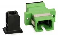 Adaptateur fibre traversée de chassis monomode SC/APC vers SC/APC simplex