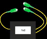 Coupleur optique GPON SC/APC 2 Voies