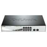 Switch réseau 8 ports PoE 10/100/1000 + 2 ports SFP D-Link DGS-1210-08P (Occasion)