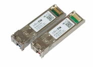 Paire de modules SFP+ monomode 10 Gbps 10 km LC simplex S+2332LC10D