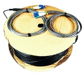 Cordon fibre monomode PE G657A2 4xLC/UPC vers 4xLC/UPC simplex 300 m