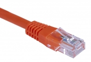 Cordon de brassage RJ45 Cat. 5e UTP (25cm) Orange Orange