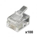 Connecteurs RJ11 (lot de 100)
