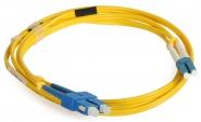 Cordon fibre monomode SC/UPC 1.5m LC/UPC duplex