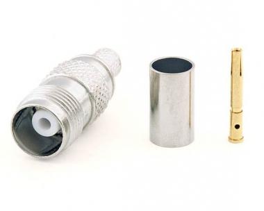 Connecteur à sertir TNC-Femelle pour RG-58/CNT-195 Telegärtner J01011A2265