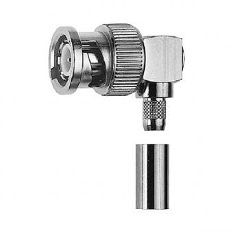 Connecteur à sertir BNC-Mâle (plug) coudé pour H-155, CNT-240, LMR-240 Telegärtner J01000A0054