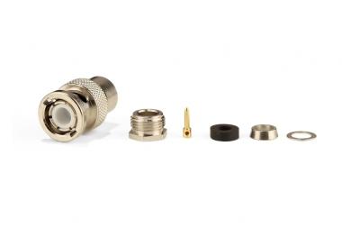 Connecteur à presse-étoupe BNC-Mâle (plug) pour RG-58/CNT-195 Telegärtner J01000A0608