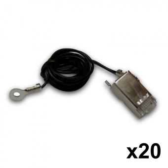 Connecteur RJ45 blindé avec câble de mise à la terre TOUGH Cable Connector Ubiquiti TC-GND (lot de 20)