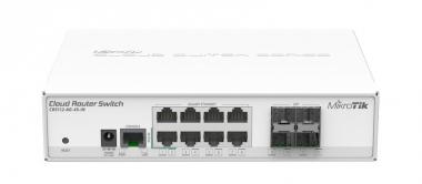 Switch réseau 8 ports 10/100/1000 + 4 ports SFP MikroTik CRS112-8G-4S-IN