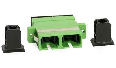 Adaptateur fibre monomode SC/APC vers SC/APC duplex