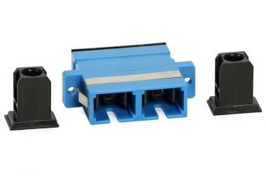 Adaptateur fibre monomode SC/UPC vers SC/UPC duplex