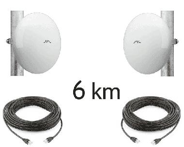 Kit Pont Réseau Très Haut débit 5 GHz Longue portée jusqu'à 6 km