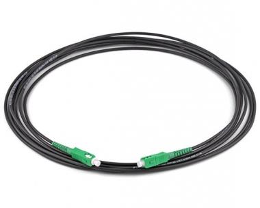Cordon fibre monomode extérieur SC/APC SC/APC simplex Longueur 160m